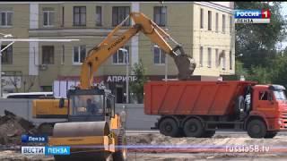 На площади Ленина в Пензе закрыта парковка
