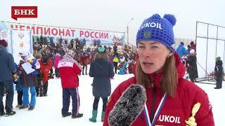 Ольга Царева - Чемпионат России по лыжным гонкам 2018 года