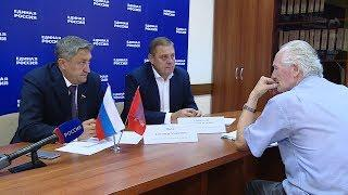 Николай Семисотов и Александр Носов провели прием граждан