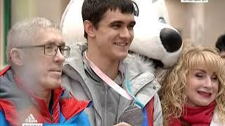 Красноярск встречает триумфатора Олимпиады в Корее Никиту Трегубова