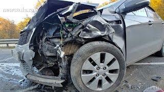 На мосту через Воронку в Туле столкнулись 7 машин
