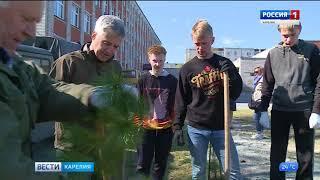 Глава Карелии  принял участие в экологической акции