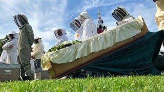 Во Франции прошли символические похороны пчеловодства…