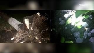 Град с ураганом обрушился на Предгорный район