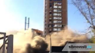 Новосибирск Пожар на стройке на улице Ипподромская