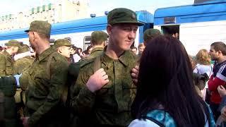 Саратовских призывников торжественно проводили в армию