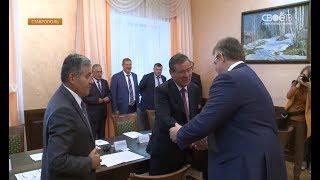 Глава Ставропольского края Владимир Владимиров встретился с делегацией республики Узбекистана