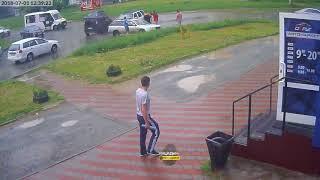 Новосибирск. ДТП на Снегирях.