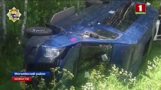 Маршрутное такси попало в ДТП под Могилёвом