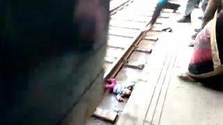 Упавший на железнодорожные пути младенец остался цел