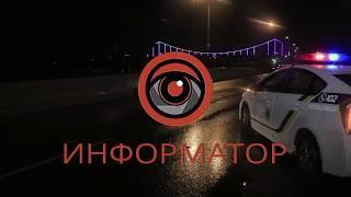 В Киеве на Набережном шоссе разбилась Kia: пострадал мужчина
