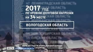 Вологодская область улучшила свои позиции в рейтинге долговой нагрузки