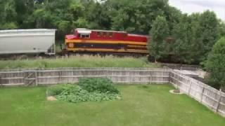 Person on Tracks with Train Coming