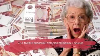 Более 70 тысяч вологжан получат прибавку к пенсии