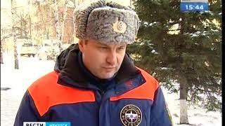 Первый ледовый пеший переход через реку Лену открыли в Киренске