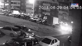 Массовое ДТП в Барнауле попало на камеры видеонаблюдения