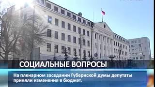 Депутаты губдумы приняли изменения в бюджет