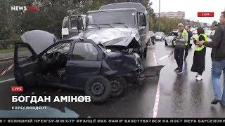 Смертельное ДТП в Киеве – на проспекте Лобановского Renault столкнулся с грузовиком 27.09.18