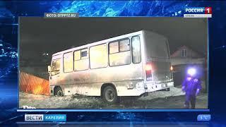 В Соломенном пассажирский автобус попал в ДТП