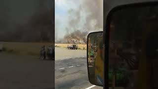 пожар поле