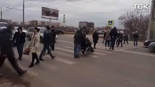 Обманутые дольщики перекрыли дорогу в Краснодаре