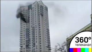 На Ленинградском шоссе сгорела квартира в 35-этажном доме
