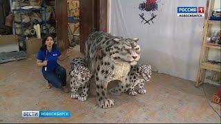 В селе Кош-Агач Республики Алтай установили скульптуру снежного барса