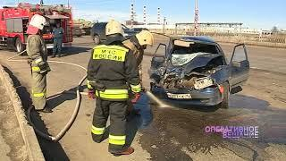 ДТП на Добрынинском мосту: водитель отечественного авто «догнал» автобус