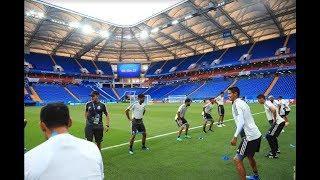 Сборные Мексики и Южной Кореи провели предматчевые тренировки