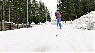 В Ханты-Мансийске лыжники опробовали полуметровую «подушку»