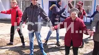 Пионеро-пенсионерский флэш-моб в Московском районе