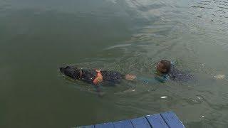 В Ставрополе на Комсомольском озере прошла совместная тренировка спасателей