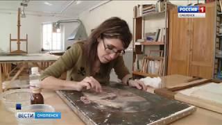 Смоленские школьники нарисовали пейзаж в манере художника Сашина