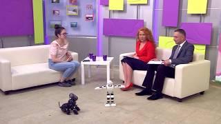 Выставка роботов. Интервью Айданы Кожахметовой