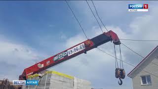 В барнаульском посёлке Солнечная Поляна рабочие на спецтехнике повредили провода