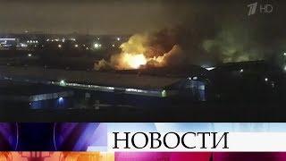 В Санкт-Петербурге всю ночь тушили мощный пожар в Невском районе.