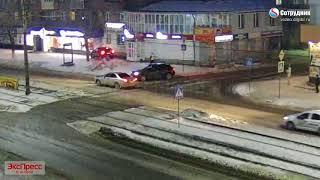 ДТП Бийск на перекрестке ул. Васильева - Липового  4.03.2018