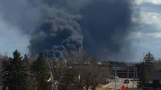 Появилось видео с места взрыва на нефтяном заводе в США