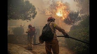 В плену огня: как в Греции борются с масштабными лесными пожарами