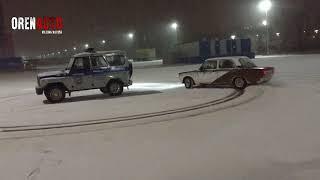 Зимний дрифт вокруг автомобиля ППС. Оренбург
