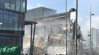 В Мехико обрушилась часть торгового центра