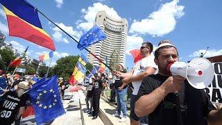 Протесты румынской диаспоры в Бухаресте