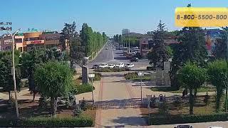 ДТП авария (г. Волжский) Площадь Свердлова. Вид на пр. Ленина 21.08.2018 15:28