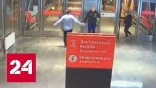 Пьяный пассажир МЦК одним ударом нокаутировал задевшего его мужчину - Россия 24