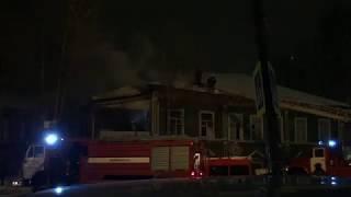 В Сыктывкаре горит бывшая Православная гимназия