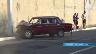 ДТП в Бендерах: автомобиль врезался в столб