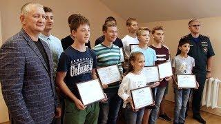 Биатлонисты  спасатели получили награды