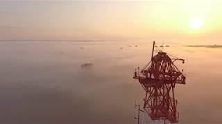 Туманный Петрозаводск с высоты птичьего полета