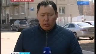 Несущаяся стена  В Ангарске у жилой пятиэтажки отвалилась бетонная плита