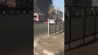 В Нижнем Новгороде на светофоре сгорел автомобиль